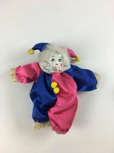 2pc Vintage Made In China Porcelain Jester Dolls - Lot 3853