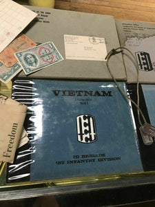 Vintage Vietnam War Ephemra- 1soldier- Dog Tags, Books W/ Original Delivery