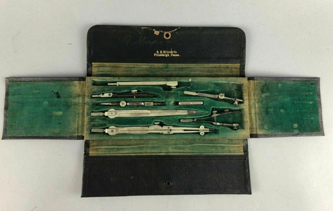 VINTAGE BK ELLIOT CO PITTSBURGH PA DRAFTING TOOL SET - LOT 3480
