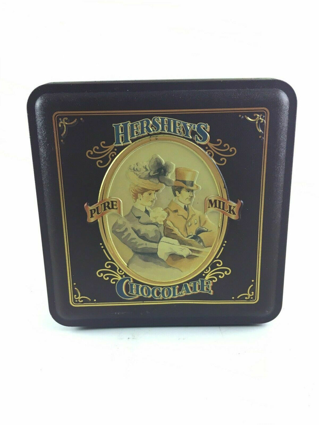 Vintage 1995 4th Edition Hershey's Pure Milk Chocolate Tin Box - 3617