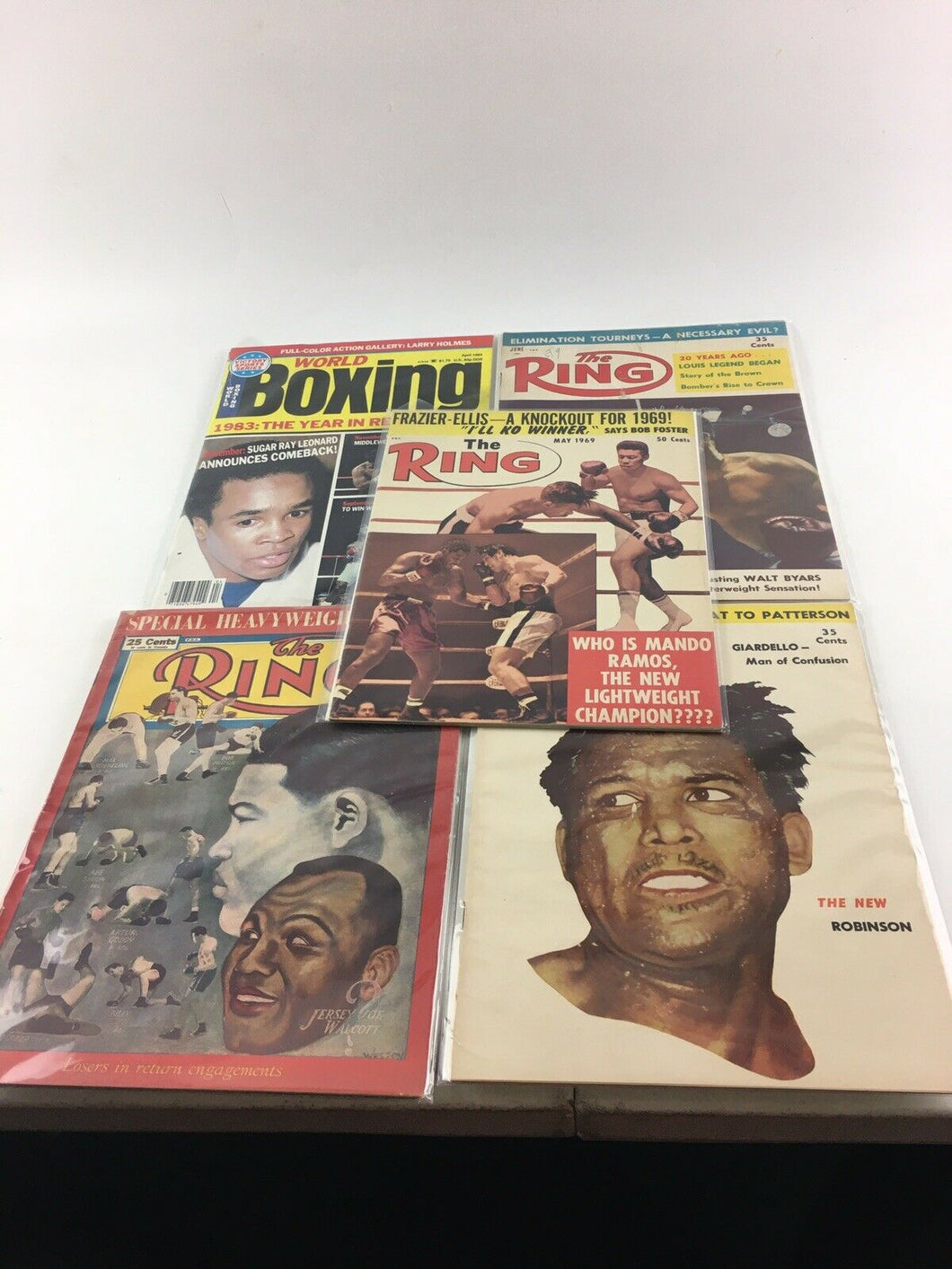 Assorted Lot Of 5 Vintage Boxing Magazines-1948-84 MINT- 5566