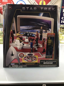 PLAYMATES TOYS STAR TREK USS ENTERPRISE BRIDGE PLAY SET 2009 NEW- 3217