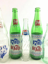 Load image into Gallery viewer, Lot Of 6 Vintage Glass Bottles, Pepsi,7up,Coca Cola 4595