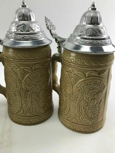 Assorted Lot Of (4) Vintage German Beer Steins-3746