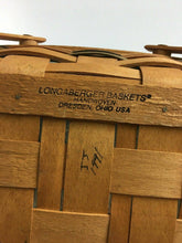Load image into Gallery viewer, 2pc Longaberberger Basket Handwoven Dresden, Ohio 1991 - Lot 4157