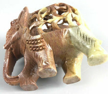Load image into Gallery viewer, Vintage Soapstone Elephant W/ Baby Elephant- 1197