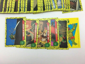 TOPPS 1989 TEENAGE MUTANT NINJA TURTLE TRADING CARDS 88 OF 99  CARDS- LOT 2750