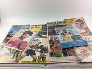 Assorted Lot Of 10 Vintage Boxing Magazines-1969-1982 MINT-5414