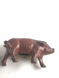 Vintage Britains Lead Animals Figurines Cow&Pig #252- 5380