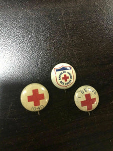 Assorted Lot Of Vintage Red Cross Pins