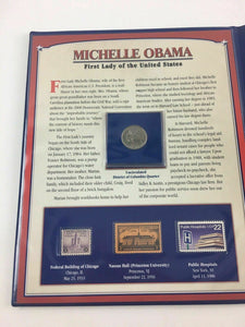 Michelle Obama - 1st Lady - PCS Stamps & Coins collection -4454