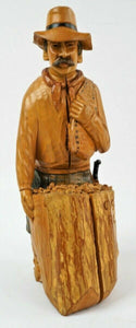 Costa Rican Wood Caving of a Farm Worker - lot 2728