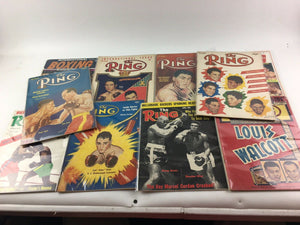 Assorted Lot Of 10 Vintage Boxing Magazines-1948-1968 MINT-5412