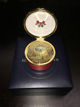 "Load image into Gallery viewer, Halcyon Days Vintage Enamel ""Christmas Wishes"" Musical Box -4396"