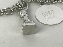 Load image into Gallery viewer, Vintage Sterling Charm Bracelet Signed American - lot 2561