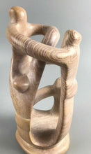 Load image into Gallery viewer, Carved African Soapstone (4) People Cirlcle Sculpture- 1918