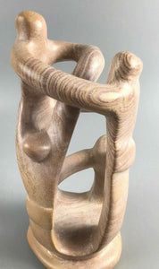 Carved African Soapstone (4) People Cirlcle Sculpture- 1918