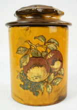 Load image into Gallery viewer, 4pc HOLIDAY DESIGNS POTTERY CANNISTER SET lot 2782