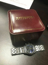 Load image into Gallery viewer, Wittnauer Swiss Men's Chronograph blue dial stainless CIB Quartz Watch 4472