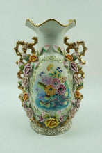 Load image into Gallery viewer, Vintage PORCELAIN CAPODIMONTE STYLE VASE - LOT 2827