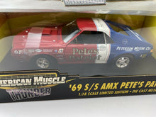 "Load image into Gallery viewer, ERTL  AMERICAN MUSCLE  THUNDER '69 S/S AMX PETE'S PATRIOT ""NEW"" Autographed RARE"