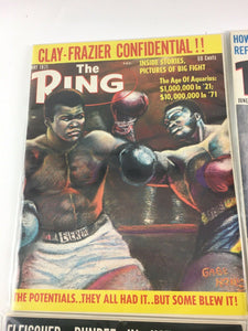 Assorted Lot Of 5 Vintage Boxing Magazines-1971 MINT-5482