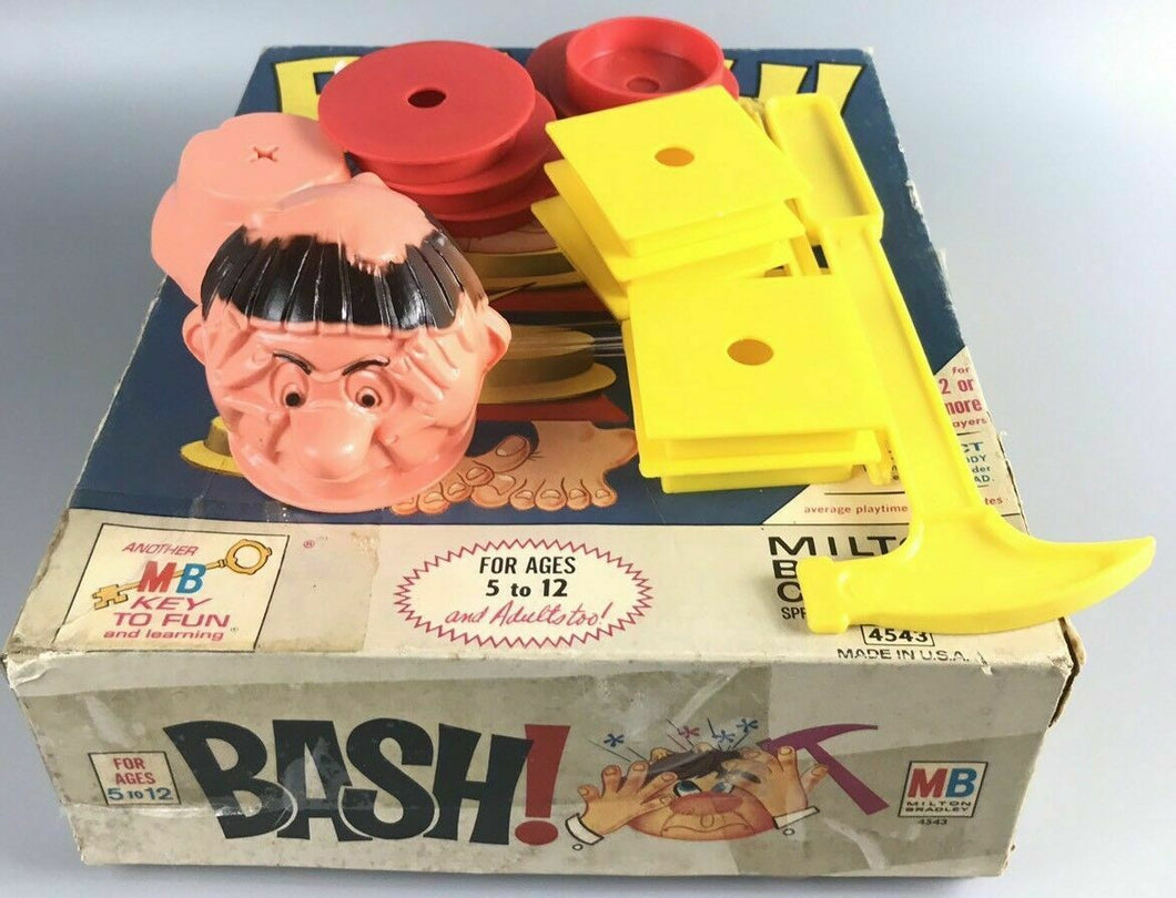 Game board 1965 BASH KNOCKOUT Milton Bradley Vintage MB Key to Fun- 1900