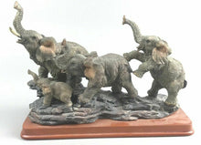 Load image into Gallery viewer, Decorative Sculpture Of (4) Elephants- 1982