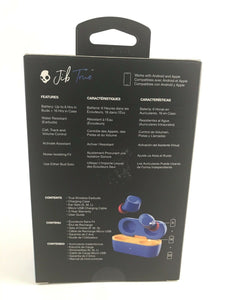 SKULLCANDY JIB TRUE WIRELESS EARBUDS BLUE - S2JTW-N745 - NEW DH107