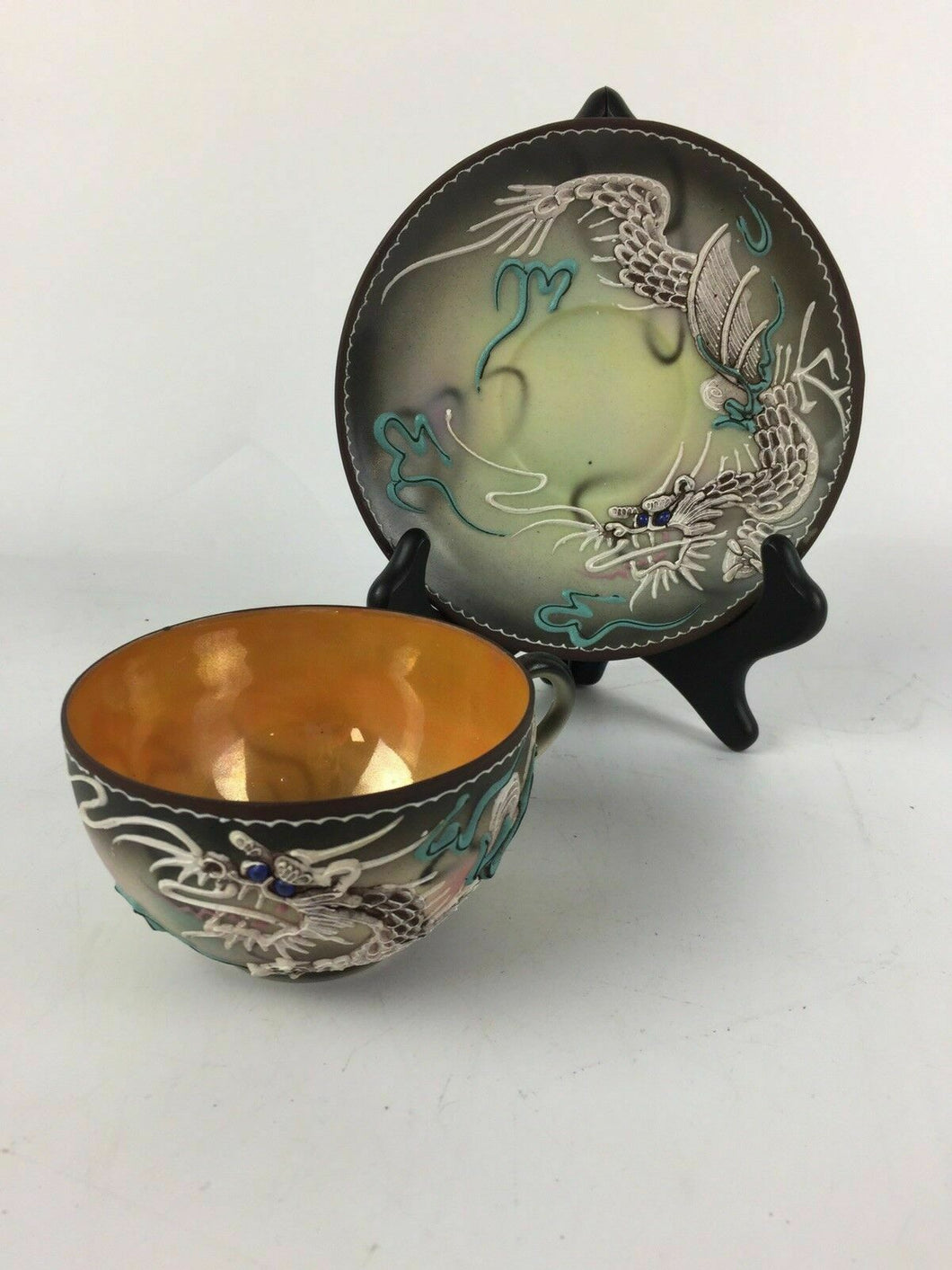 Vintage Hand Painted Japan Dragon Ware  Cup & Saucer - lot 2016