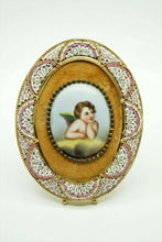 Load image into Gallery viewer, Antique Miniature Portrait Cherub Portrait on Porcelain - lot 2460