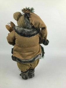 "21"" Tall Faux Fur Bear With Skis and Wreath by Dennis Basso- Lot 586"