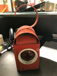 Vintage Kenyon Kenlite Made In England BS3143 Red Traffic Light Lantern 4612