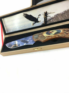 Wolf And Eagle Collectors Knives 4722