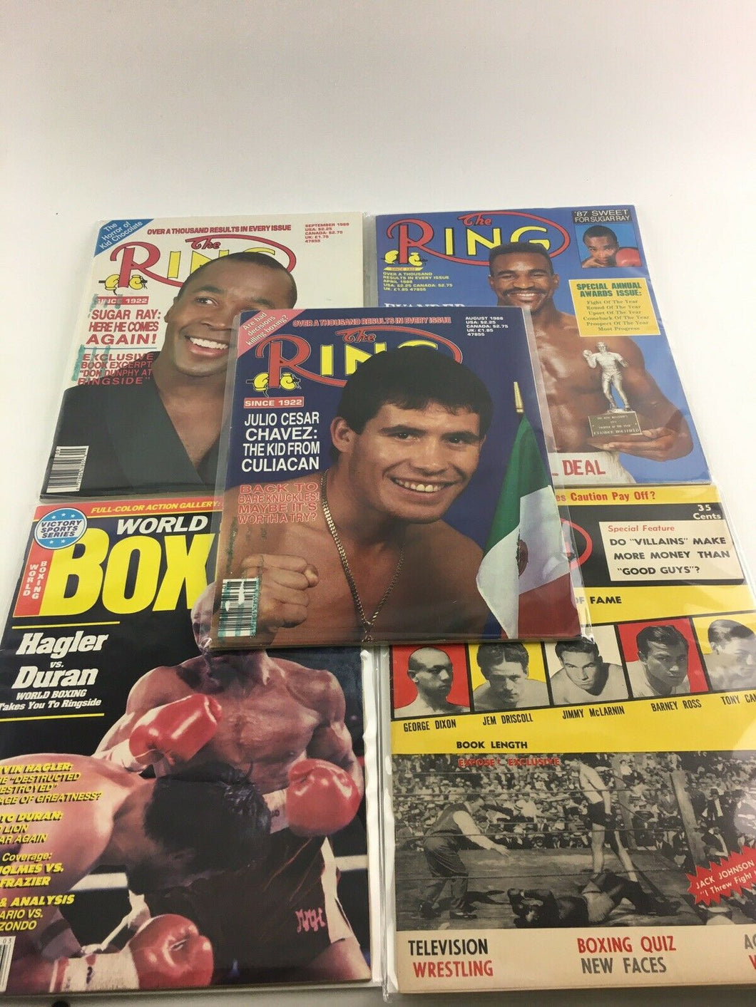 Assorted Lot Of 5 Vintage Boxing Magazines-1956-88 MINT-5514