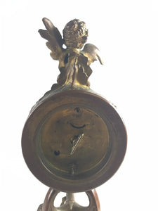 VTG French Bronze Figural Clock 2nd Half 19th Century-5364