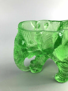 Glass Elephant Green Ash Tray- 1218