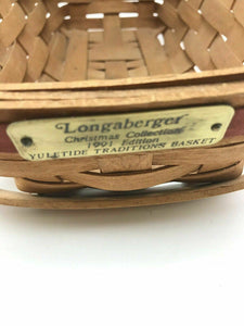 Assorted Lot Of (2) Vintage Longaberger Handwoven Baskets- 3755