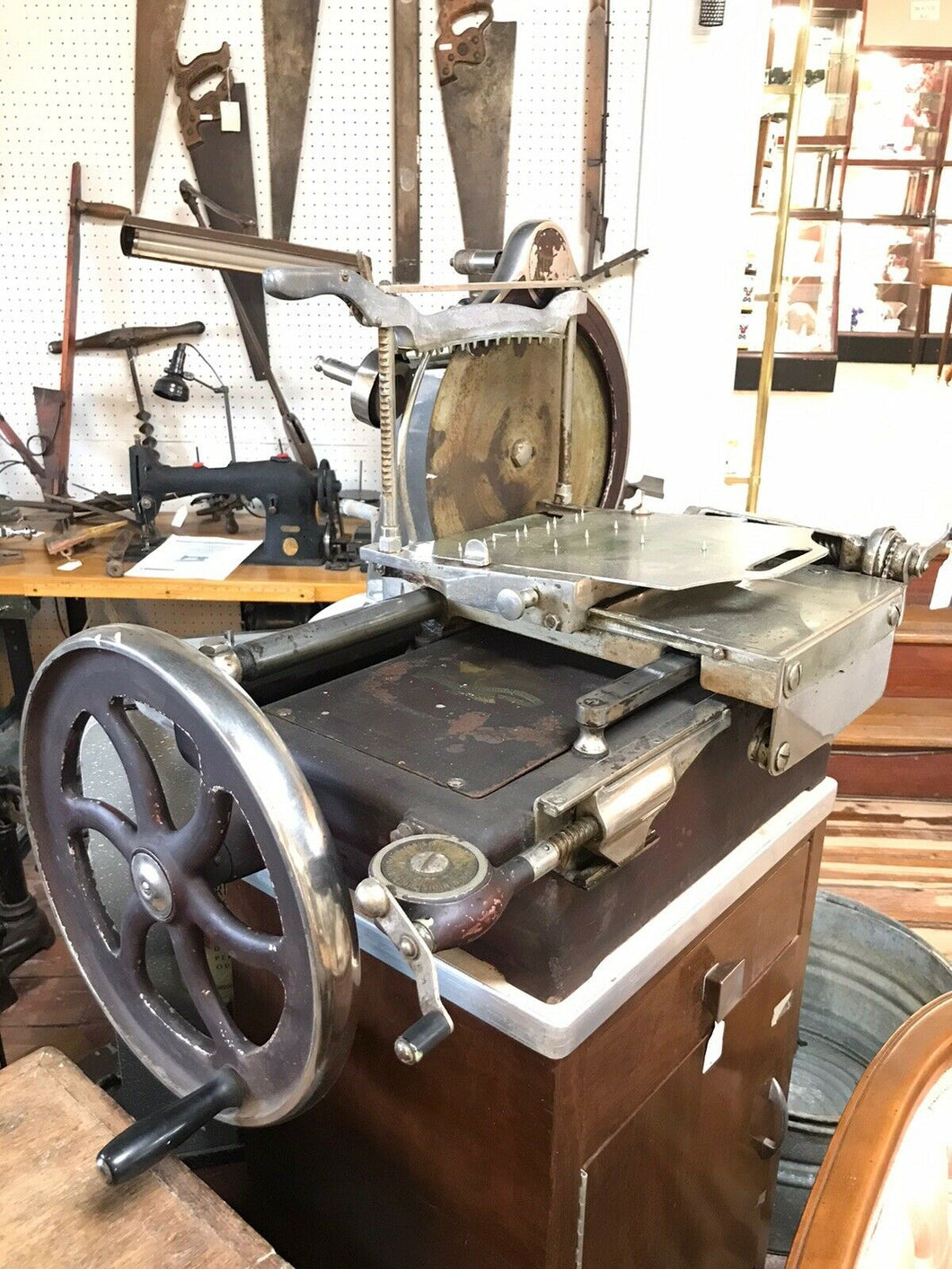 Antique American Slicing Machine- Meat Slicer- *BEAUTIFUL* - Chicago,IL-5084