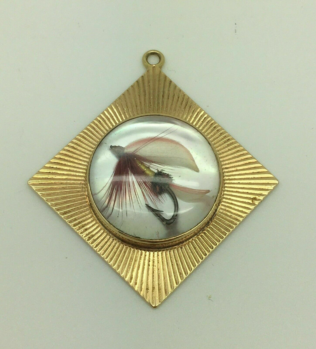TIFFANY & CO 14K YELLOW GOLD FLY FISHING LURE CHARM / PENDANT - LOT 4100R