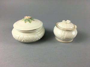 2pcs Vintage Belleek Trinket Dishes - Lot 3358
