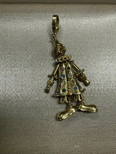 Load image into Gallery viewer, Vintage 9k Gold Diamond & Gemstone Animated Movable Clown Pendant English 17.4G