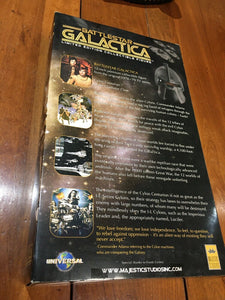 "BATTLESTAR GALACTICA LIMITED EDITION GOLD CYLON 12"" ACTION FIGURE."