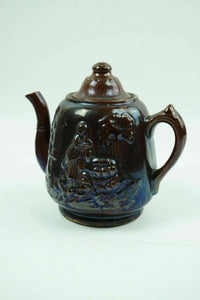 2pcs 19th Century Rockingham Pottery Teapot / Coffee Pot - lot 2491