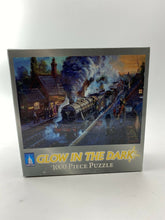 Load image into Gallery viewer, Glow In The Dark 1000 Piece Jigsaw Puzzle 20 x 27 Train Station