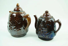 Load image into Gallery viewer, 2pcs 19th Century Rockingham Pottery Teapot / Coffee Pot - lot 2491