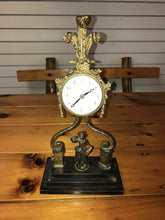 Load image into Gallery viewer, A LOUIS XVI STYLE GILT-METAL MOUNTED BOULLE MARQUETRY TABLE CLOCK - lot 3036