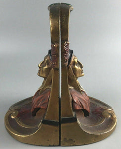 Antique Dante Bookends, Kronhein And Oldenbusch 1920's- 5313