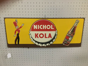 Vintage Nichol Kola NOS Soldiers Advertisement Sign 5092