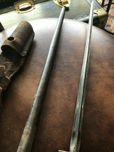 "Load image into Gallery viewer, Antique 25"" French Lebel Bayonet Military WWI/WWII With Scabbard & Frog"